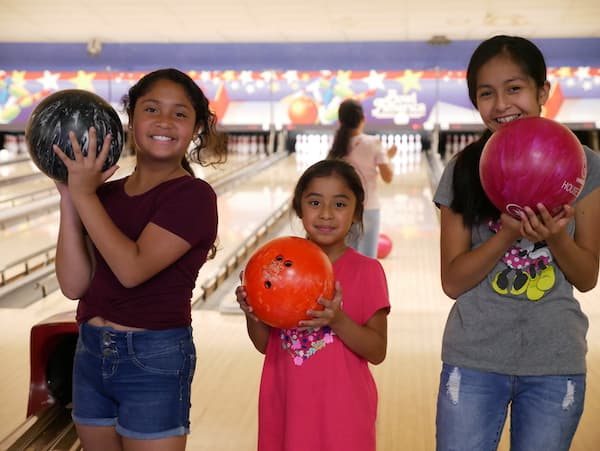 Young Girls at Bowling Alley