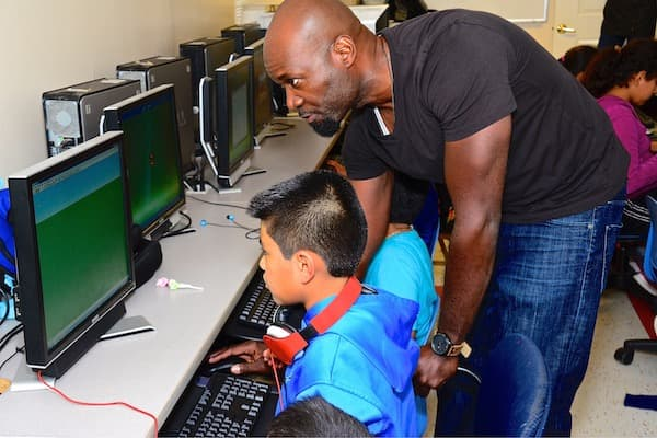 Emmanuel works at Second Story's Computer Learning Center