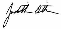 Judith Dittman's Signature