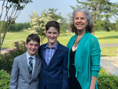 Renee and grandsons