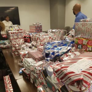 Picture of donated gifts for children